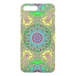 Green and Yellow Fractal Clear iPhone Case