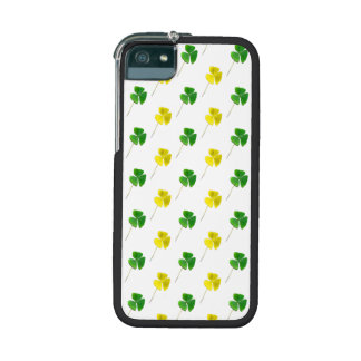 Green and Yellow Gold Shamrock Pattern Cover For iPhone 5