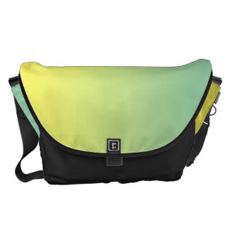 Green And Yellow Large Courier Bag