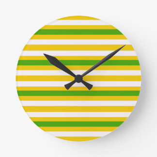 Green and Yellow Look Round Clock