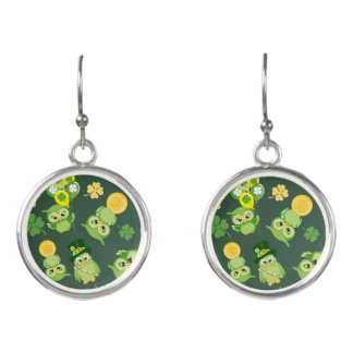 Green and Yellow Saint Patricks Day Earrings