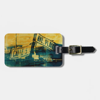 Green and Yellow Street Sign Luggage Tag
