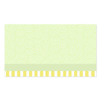Green and Yellow Swirls and Stripes Business Card Template