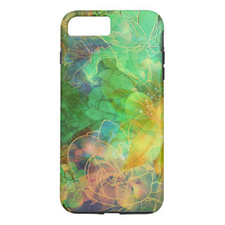 Green And Yellow Tones Abstract Floral iPhone 7 Plus Case