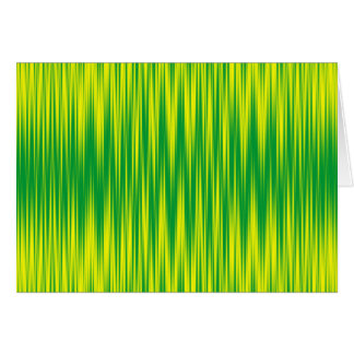 Green and Yellow Zig Zag Card