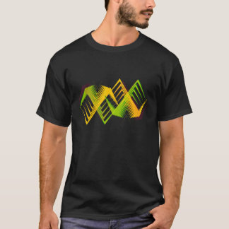 Green and Yellow Zig Zag T-Shirt