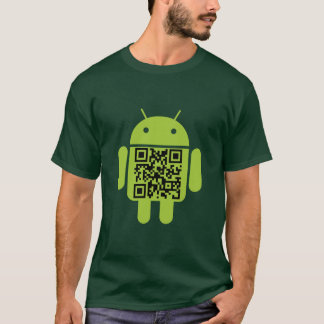 Green Android QR Code T-Shirt