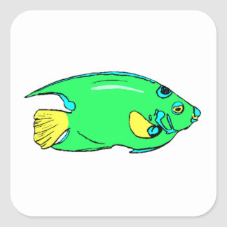 Green Angel Fish Stickers