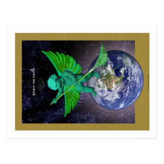 Green Angel Peace on Earth Postcards