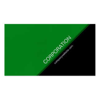 Green angled text modern business card