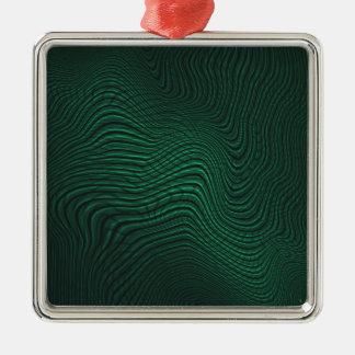 Green animal print metal ornament