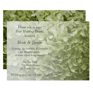 Green Annabelle Hydrangea Post Wedding Brunch Card