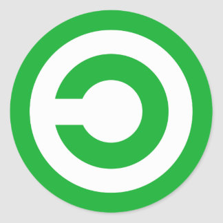 Green Anti-Copyright Copyleft Public Domain Symbol Stickers