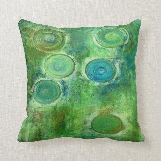 Green Antique Circles Cushion
