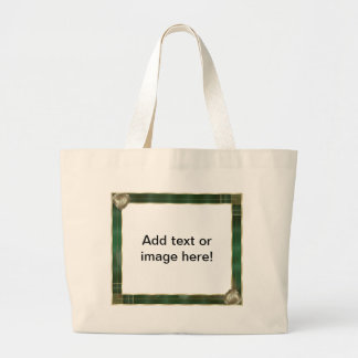 Green Antique Frame Add Your Photo Here Jumbo Tote Bag