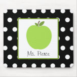 Green Apple / Black With White Polka Dots
