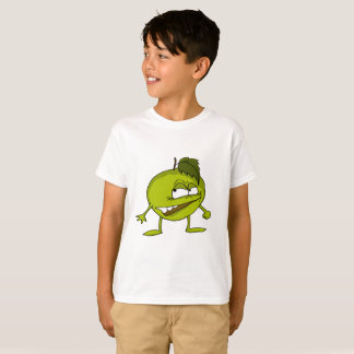 Green apple cartoon character with a vicious smile T-Shirt