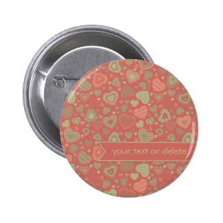 Green Apple Delight - tiny hearts with banner 6 Cm Round Badge