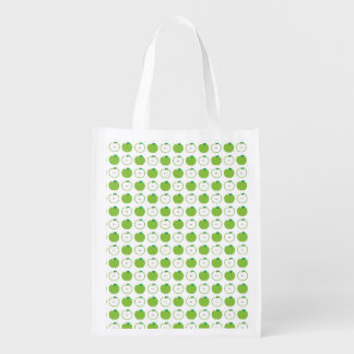 Green Apple Pattern Reusable Bag
