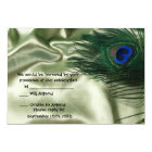Green Apple Peacock Sill Life RSVP Card