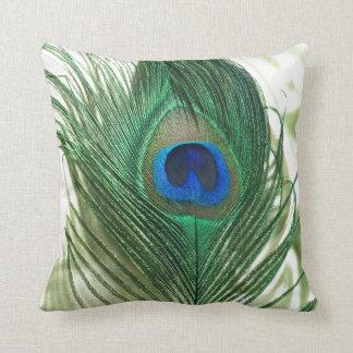Green Apple Peacock Sill Life Throw Cushion
