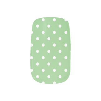 Green Apple Polka Dot Minx Minx Nail Art