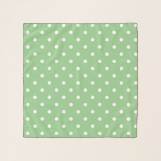 Green Apple Polka Dot Scarf
