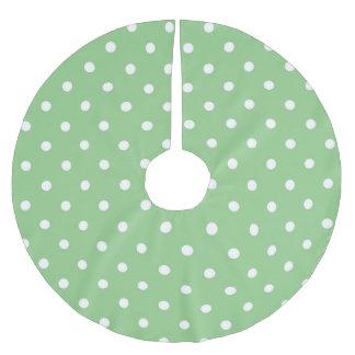 Green Apple Polka Dots Christmas Tree Skirt