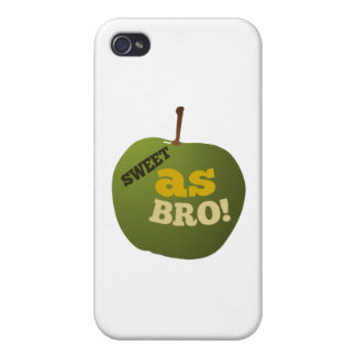 Green apple SWEET AS BRO Case For The iPhone 4