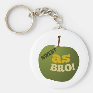 Green apple SWEET AS BRO Key Ring