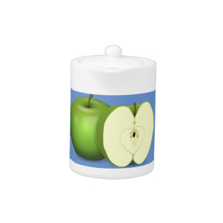 Green apple tea pot