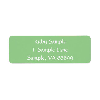 Green Apple Template Address Labels