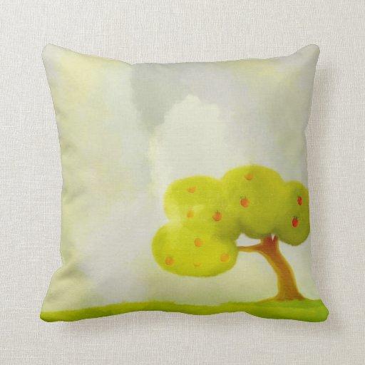 green apple tree American MoJo Pillows