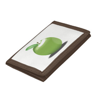 Green Apple Trifold Wallet