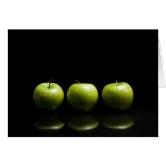 Green Apple Trio Card