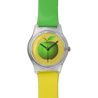 Green Apple Yellow Simple Minimalistic Cool Fruit Watch