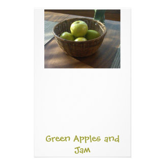 Green Apples and Jam Stationery