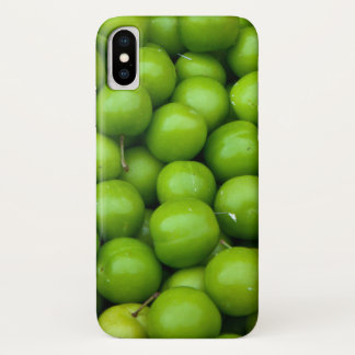 Green Apples at the Farmers Market Pattern iPhone X Case