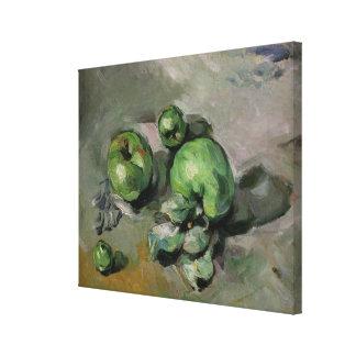 Green Apples, c.1872-73 Canvas Print