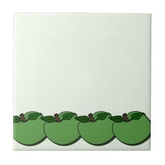 Green Apples Design Tile