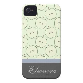 Green Apples Fruit Pattern iPhone4 Case