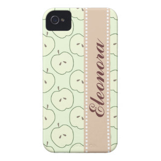 Green Apples Fruit Pattern iPhone 4 Covers