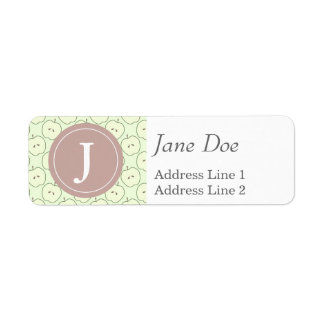 Green Apples, Fruit Pattern Return Address Label