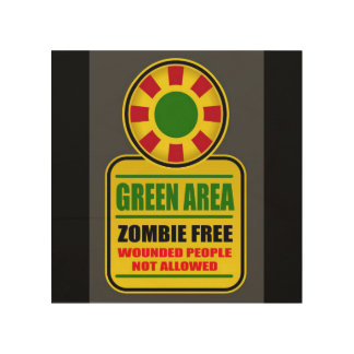 Green Area Zombie Free Sign