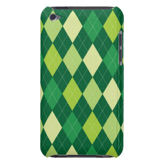 Green argyle pattern iPod Case-Mate cases