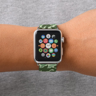Green Army Camouflage Camo Apple Watch Band