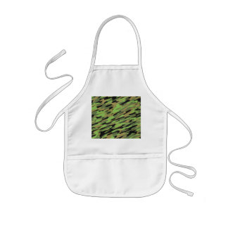 Green Army Camouflage Textured Kids Apron