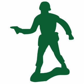 Green Army Man Standing Photo Sculpture