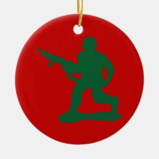 Green Army Men Ceramic Ornament