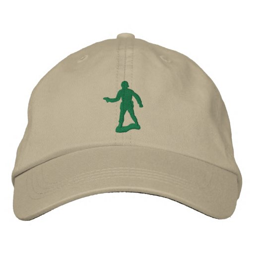 Green Army Men Embroidered Hat